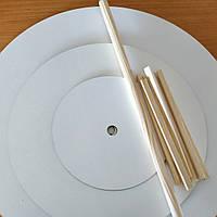 Ярусна конструкцiя для торту ДВП товщиною 3мм круг 350/250/150