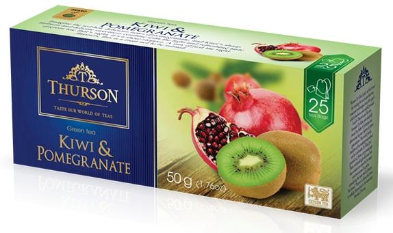 Чай зеленый пакетированный Thurson Киви Гранат 25 пак.