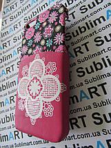 Дизайнерский чехол ручной работы для Iphone 5/5s (цветы с кармашком), фото 3