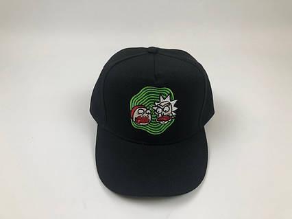 Кепка бейсболка Рик Морти - Зеленый круг (черная), фото 2