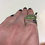 Пренит кольцо с натуральным пренитом в серебре 18.7 размер Индия, фото 4