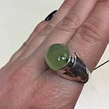 Пренит кольцо с натуральным пренитом в серебре 18.7 размер Индия, фото 5