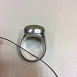 Пренит кольцо с натуральным пренитом в серебре 18.7 размер Индия, фото 8