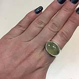 Пренит кольцо с натуральным пренитом в серебре 18.7 размер Индия, фото 3
