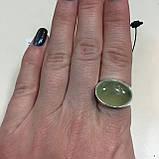 Пренит кольцо с натуральным пренитом в серебре 18.7 размер Индия, фото 2