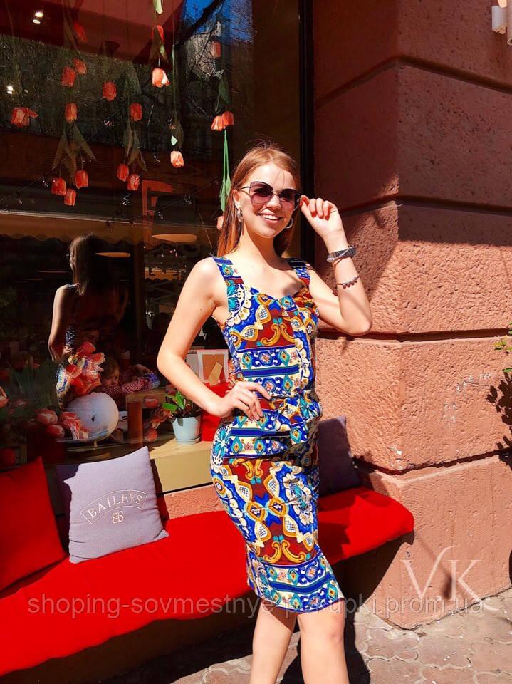 9aef3a9115cbf7f Женское летнее Платье сарафан с абстрактым принтом с /м размер ...