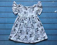 Детское летнее платье Котики кулир