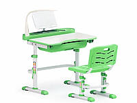 Комплект парта и стульчик Evo-Kids Evo-17 с лампой Зеленый
