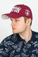 """Мужская кепка """"Boston"""",бордовая, фото 1"""