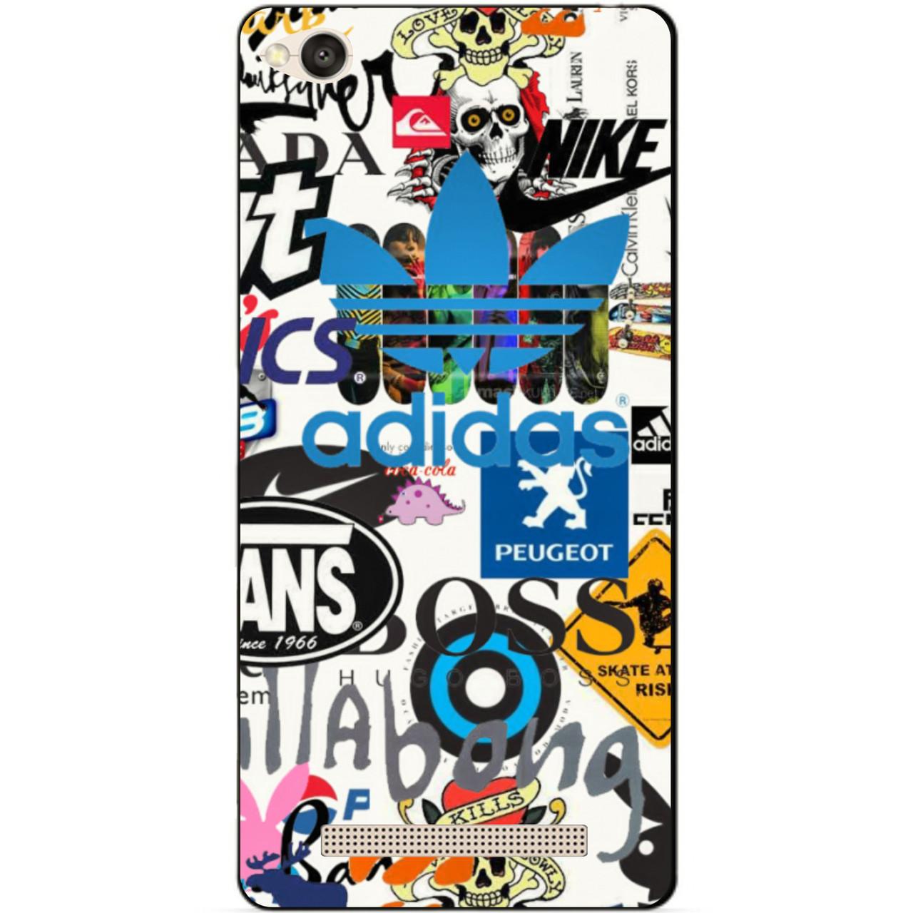Силиконовая накладка для Xiaomi Redmi 4a с рисунком Adidas