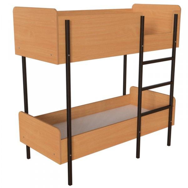 Кровать двухъярусная для общежитий (1970*890*1640h) Мебель для общежитий и гостиниц от производителя.