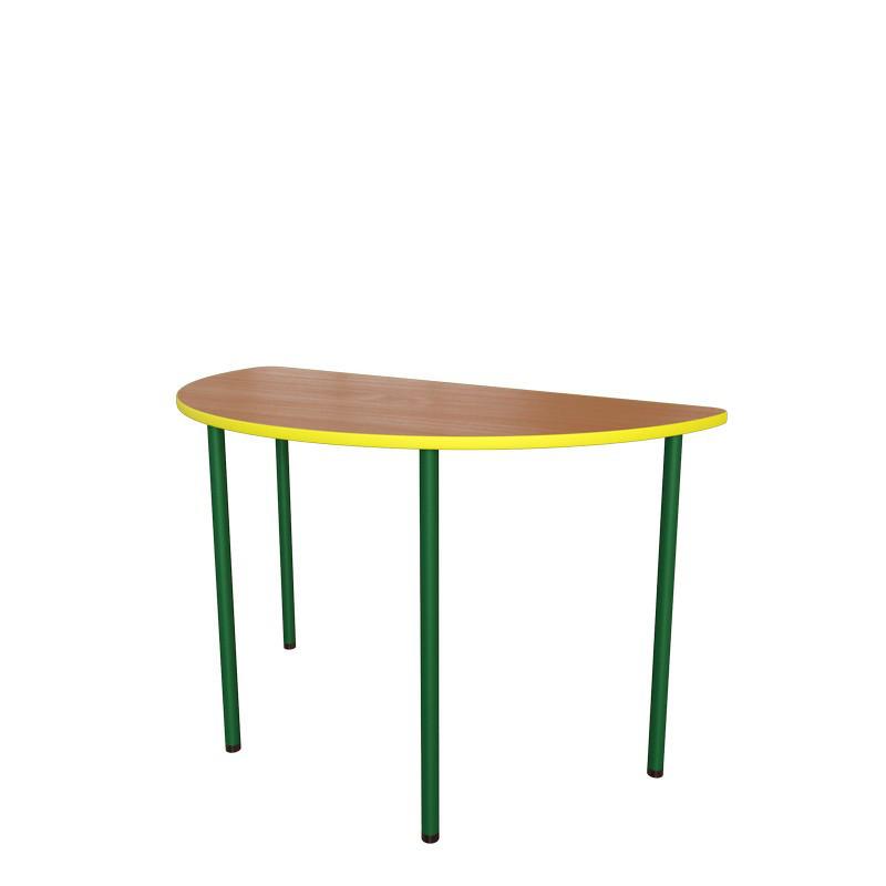 Стол детский Полукруг на металлическом каркасе. Детские столы для садиков