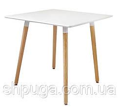 Стол обеденный Нури, дерево, бук, 80х80 см, цвет белый