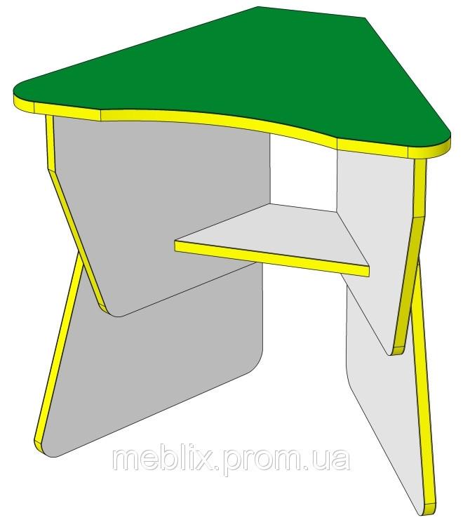 Стол детский Лепесток регулируемый по высоте с полкой