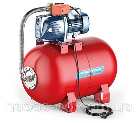 Насосная станция гидрофор Pedrollo JSWm2 CX для воды 0.75кВт Hmax47м Qmax70л/мин (самовсасывающий насос) 24л