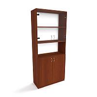Офисный шкаф для документов со стеклом ШД-4 (600*350*1840), шкафы для документов, офисные шкафы для документов, фото 1