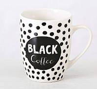 Кружка черно белая с надписями