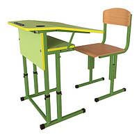 Школьная парта и ученический стул для НУШ с регулировкой высоты, комплект мебели, фото 1