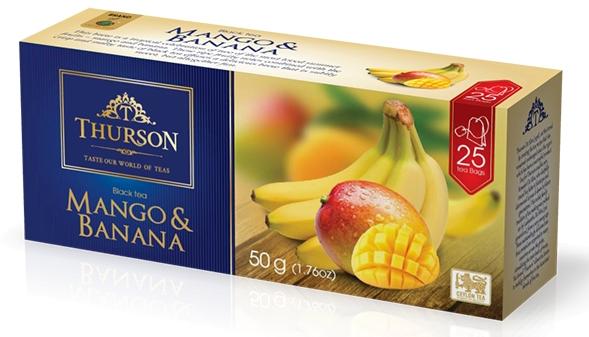 Чай черный пакетированный Thurson Манго Банан 25 пак.