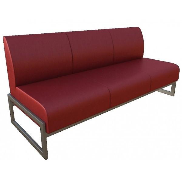 Трёхместный диван для офиса Юнис на металлическом каркасе от производителя