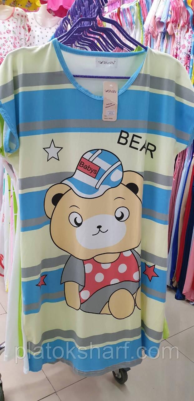 """Ночнушка красивая, 50-58 ночная рубашка """"Бамбук"""""""