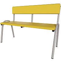 Детская скамья со спинкой Лина. Скамейки для детских садиков., фото 1