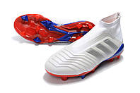 Футбольные бутсы adidas Predator 18+ FG White/Active Red/Bold Blue, фото 1