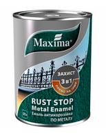 Maxima Эмаль 3 в 1 молотковая 10 л Темно-коричневый