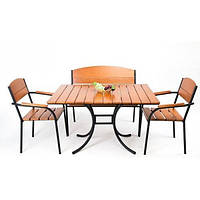 Комплект мебели «Фелиция» (стол+лавка+2стула)