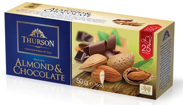 Чай с миндалём и шоколадом Thurson с миндалем и шоколадом черный цейлонский 25 пакектиков