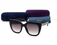 Женские брендовые солнцезащитные очки в стиле GUCCI (163) , фото 1