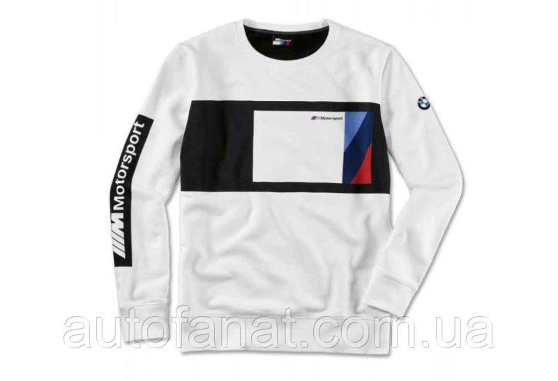 Оригинальный мужской свитер BMW M Motorsport Sweater Blocking Design, Men, Black/White (80142461111)
