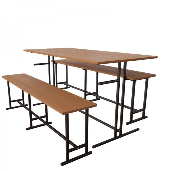 Комплект мебели для школьной столовой на 6 человек от производителя