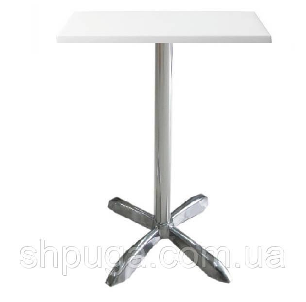 Стіл барний Амелія, алюміній, білий 60*60 см, висота 73 см