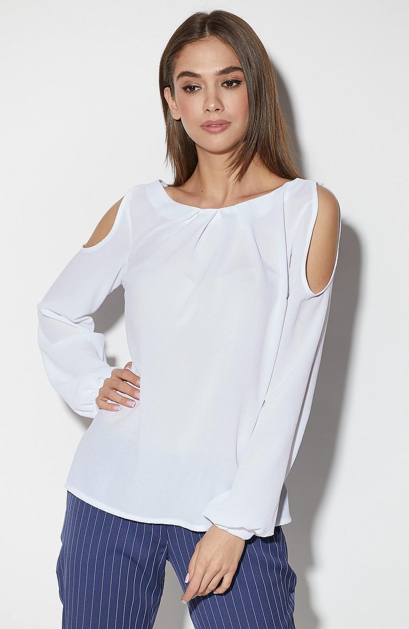 (S, M, L) Молодіжна біла жіноча блузка Arizona