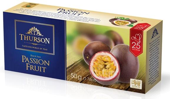 Чай черный с маракуйей Турсон Плод Страсти цейлонский 25 пакетиков