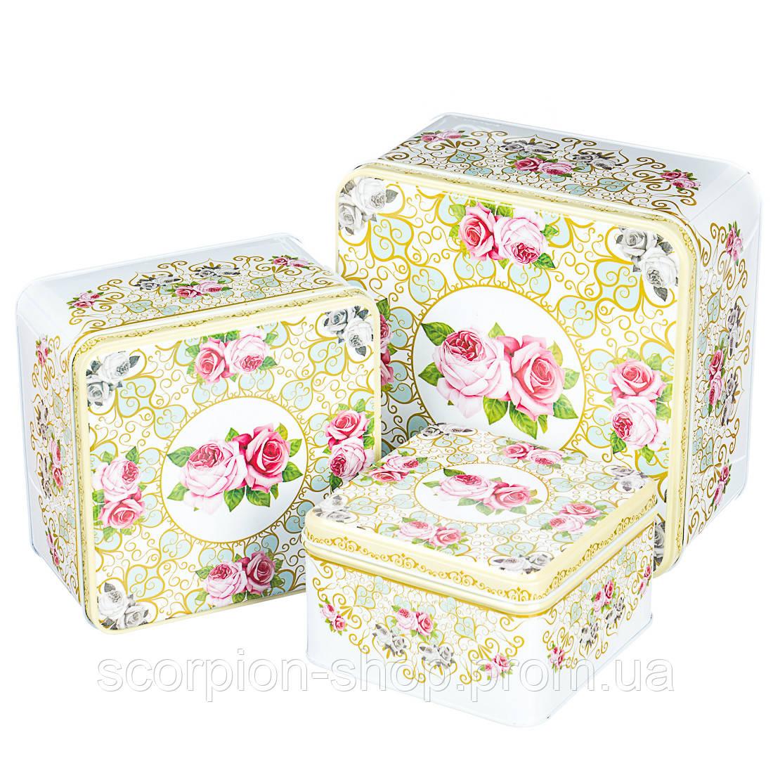 """Набор коробок """"Благоухающая роза"""" (0265J) жесть"""