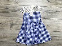 Катоновое платье для девочек. 4- 8 лет.