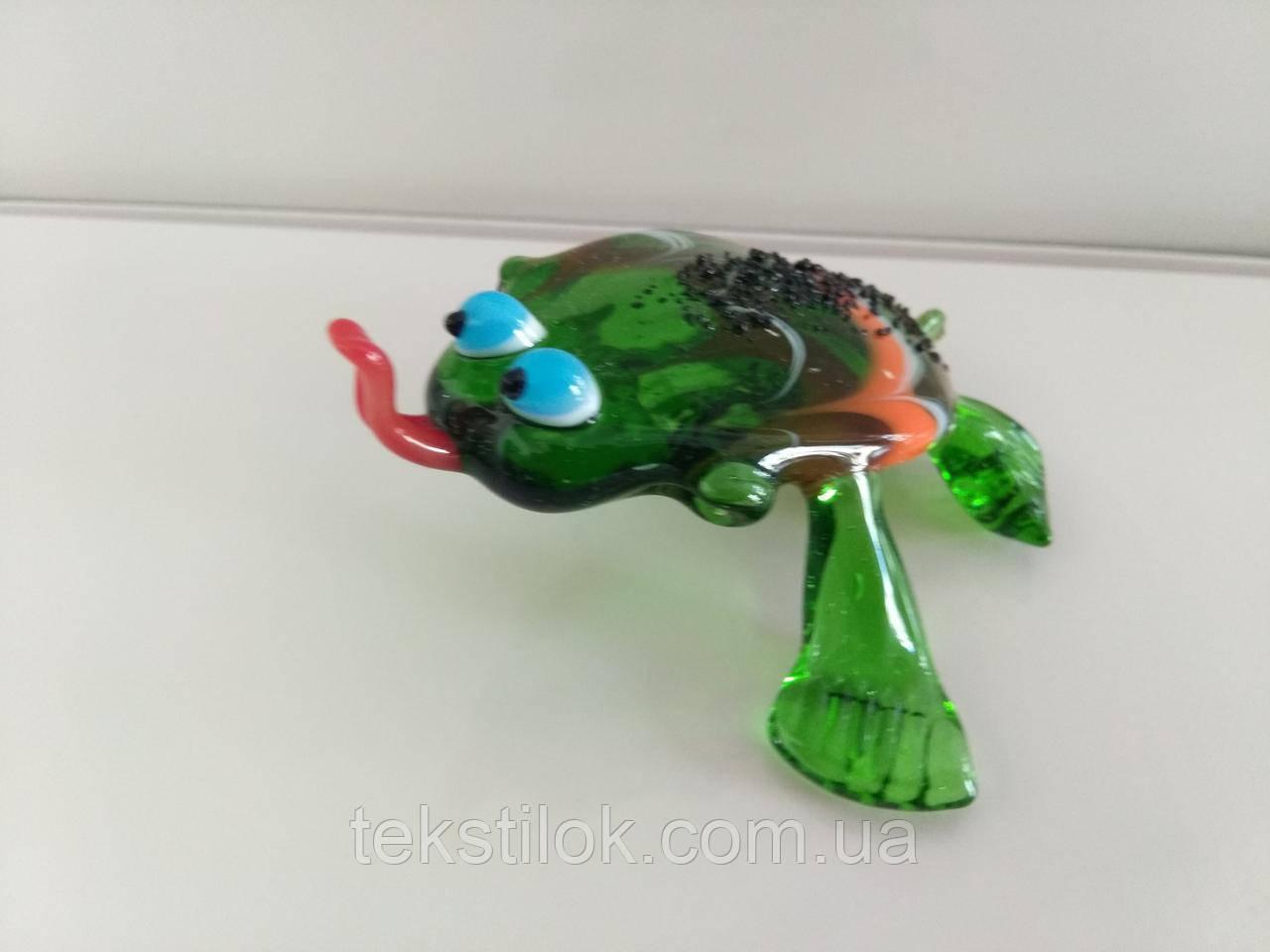 Фигурка стекло Лягушка с языком