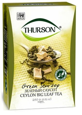 Зеленый чай с саусепом Thurson цейлонский листовой 250 грамм