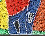Будинок щасливих людей пано в техніці стрінг-арт String Art, фото 5