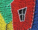 Будинок щасливих людей пано в техніці стрінг-арт String Art, фото 4