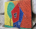 Будинок щасливих людей пано в техніці стрінг-арт String Art, фото 7