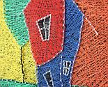 Будинок щасливих людей пано в техніці стрінг-арт String Art, фото 9