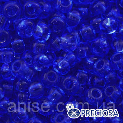 Бисер Preciosa 10/0 цв. 30030, Прозрачный NT, Синий, Круглый