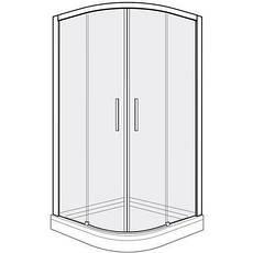 Душевые кабины полукруглые раздвижные двери