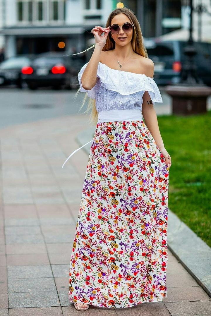 Платье крестьянка летнее с воланом