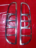 Накладки на задние фонари FIAT DOBLO 06-10 г.в.