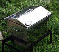 Коптильня Середня нержавійка + терм | 1.5 мм | 400х300х300 | жаростійкий