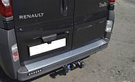 Накладка на задний бампер с загибом для Renault Trafic, Рено Трафик